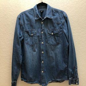 H&M Denim Shirt - 100% Cotton